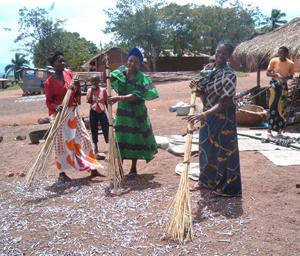MIBOS group in Kibirizi area drying sardines.