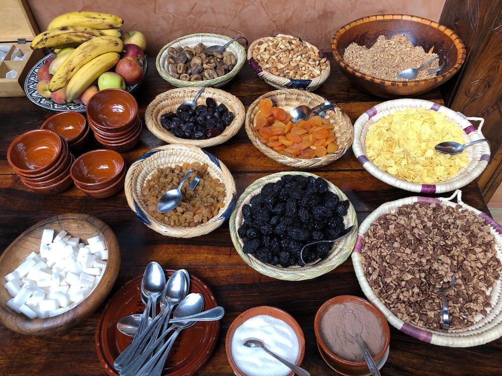 Breakfast bar at Kasbah du Toubkal