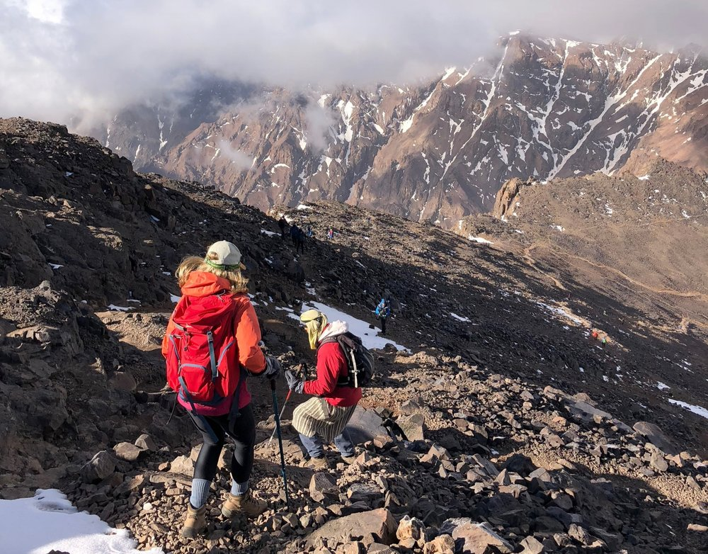 Coming down from the Toubkal Summit