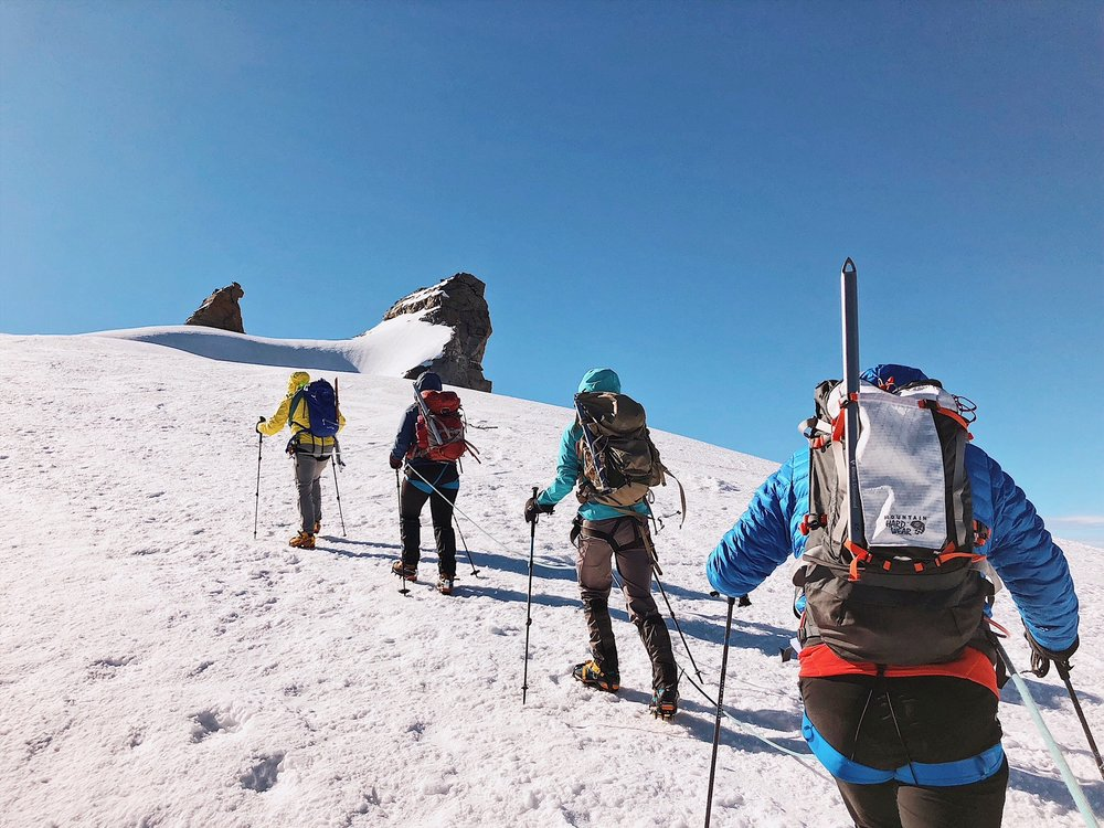 Approaching the summit of Gran Paradiso