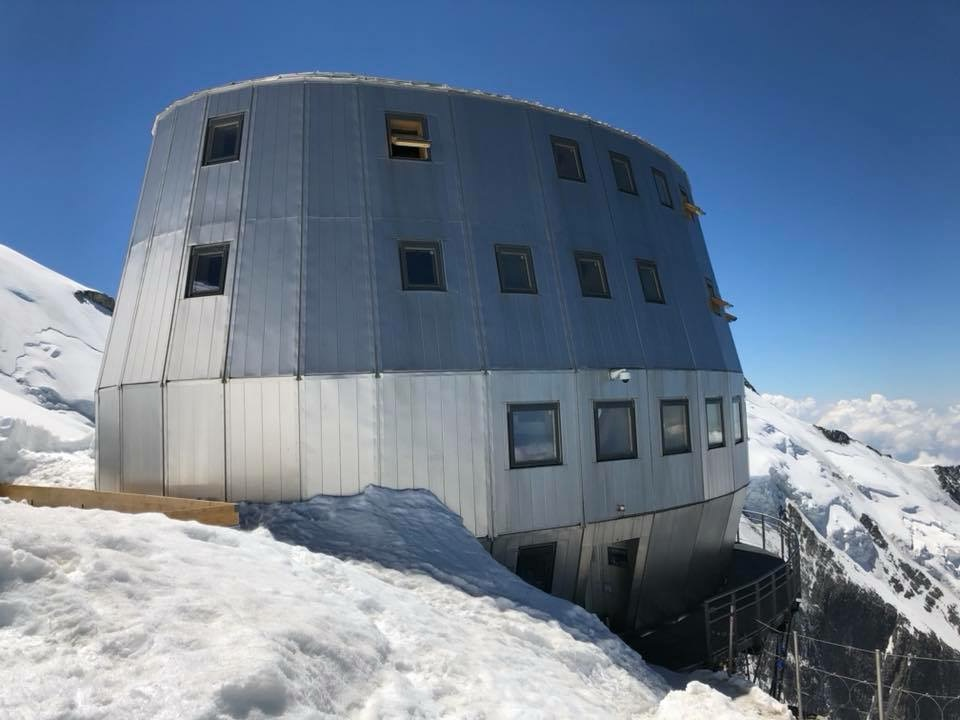 The new Gouter hut was built in 2013