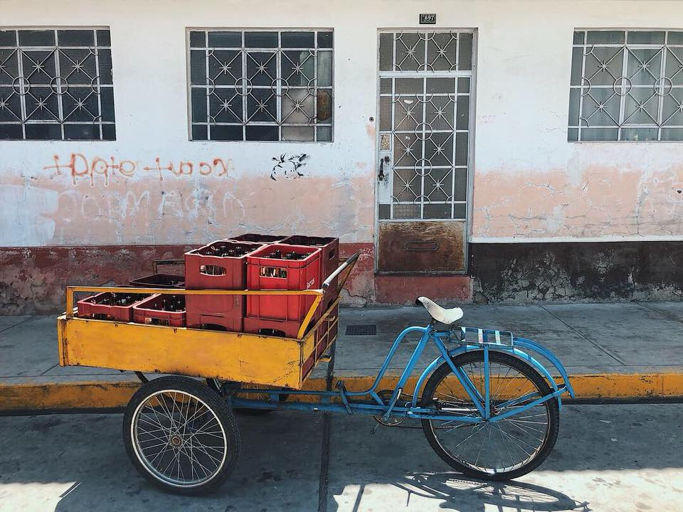 Local bike carrier in Huaraz