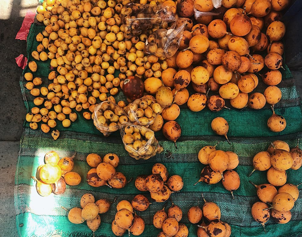 Fruits for sale at Huaraz market