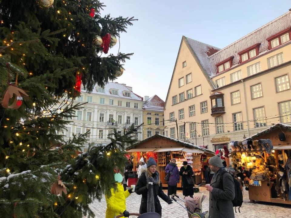 christmas market tallinn estonia