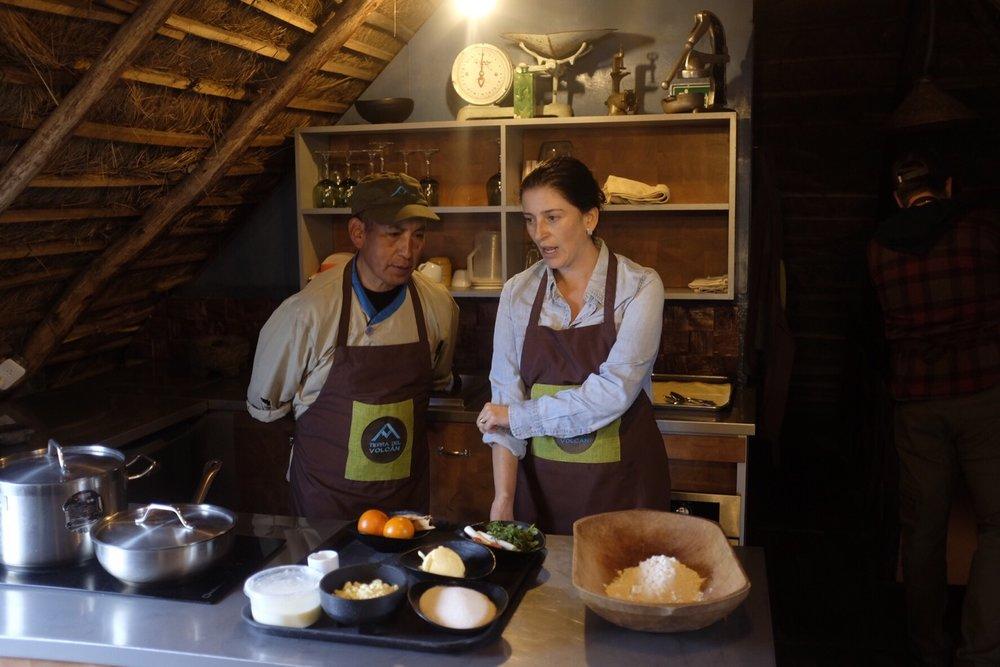 Maria and Roberto teach us how to cook Ecuadorian-style