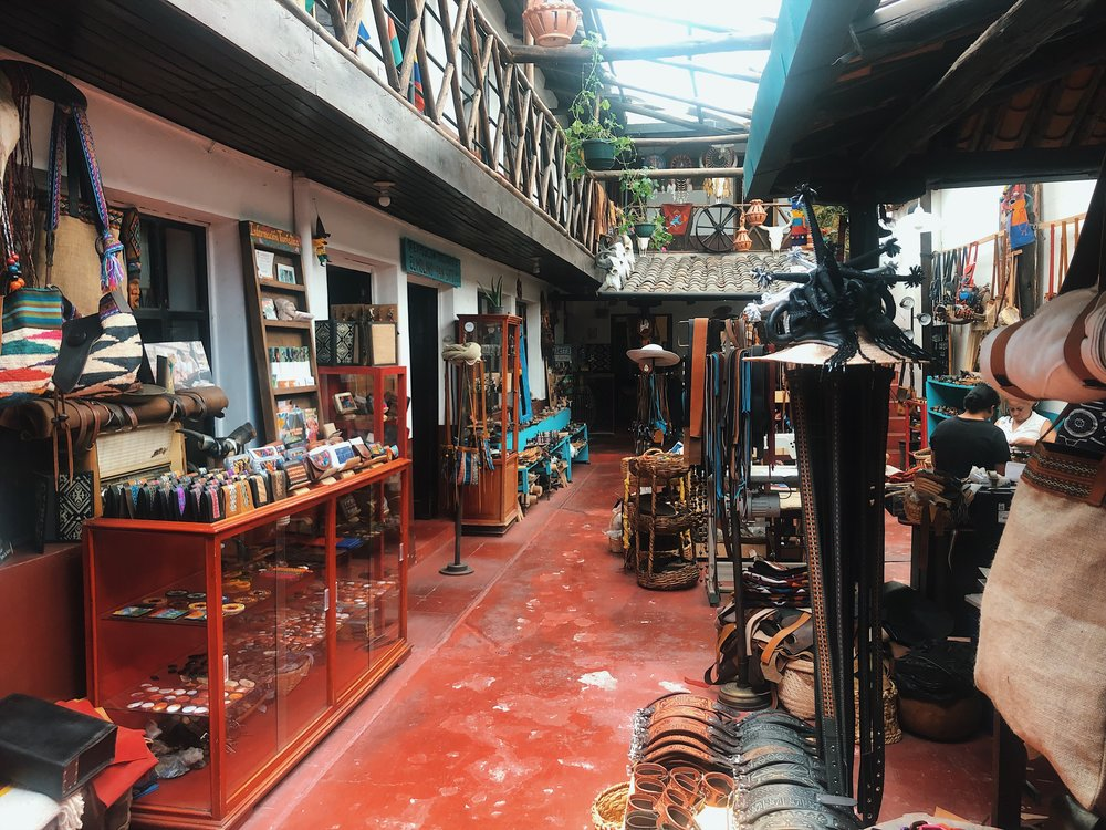 Souvenir shop in Otovalo