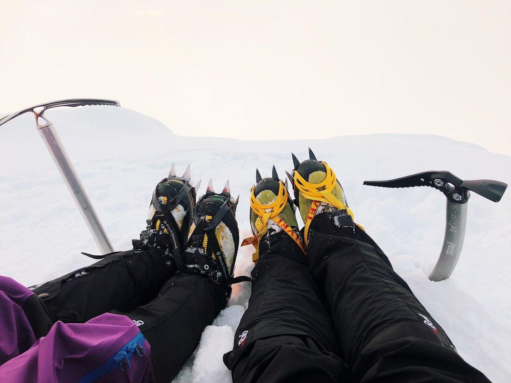 Enjoying the hard-earned summit!