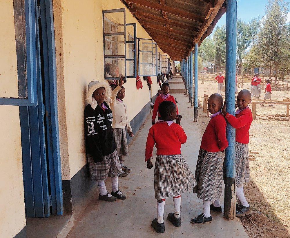 olepangi mountain kenya farm school children