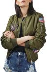 Topshop Badged Bomber Jacket