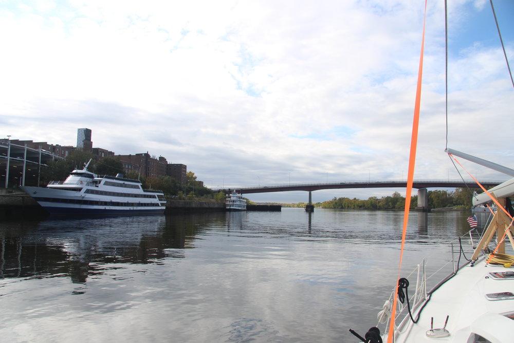 Last few bridges before we get our mast up.