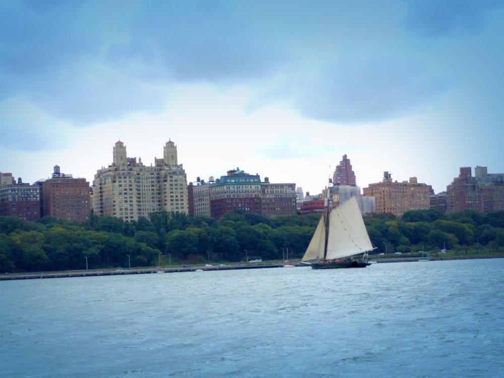 Historic sailboat.