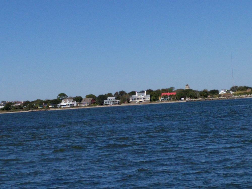 Stunning homes line the waterways.
