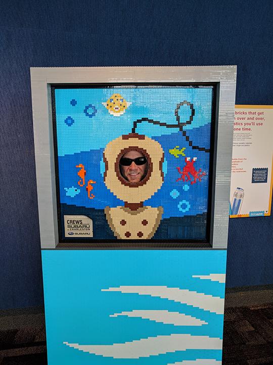 Aquarium: Andrew in Lego.