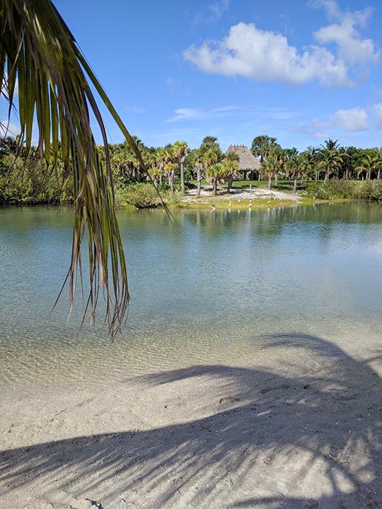Lovely beach overlooking a waterway on Peanut Island.