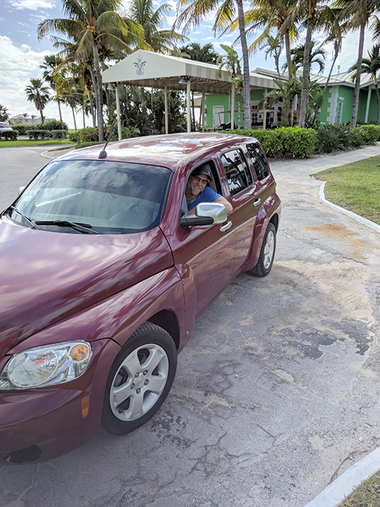 Our rental car. Um, I think it will get us back.