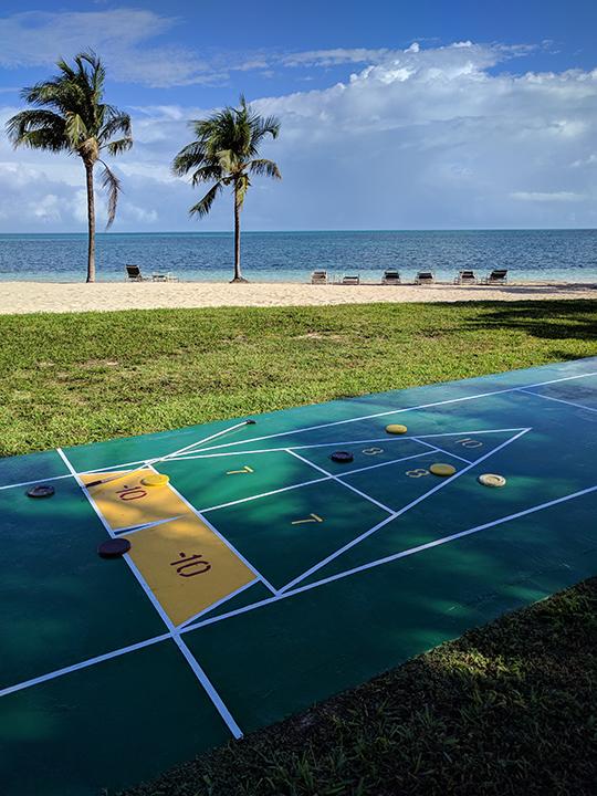 Shuffle board overlooking the beach!