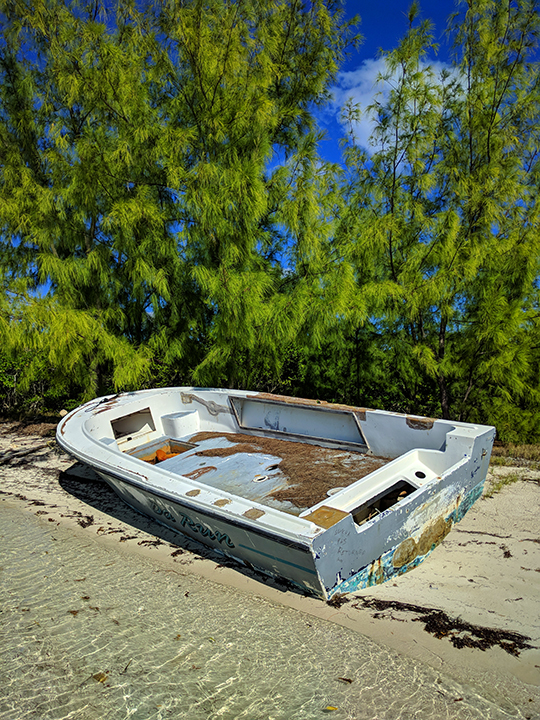 Nope! This boat is abandoned.