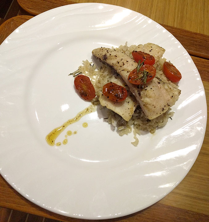 Rosemary, tomato Spanish Mackerel.