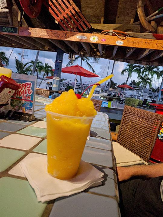 Mango smoothie. Yum!