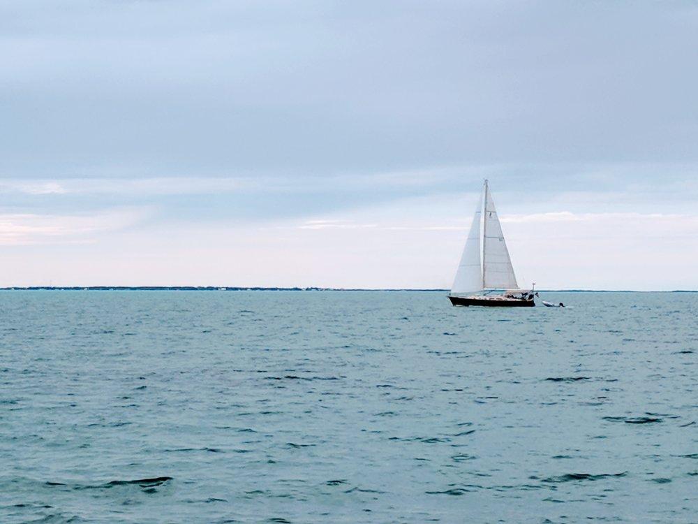 Returning to Treasure Cay.