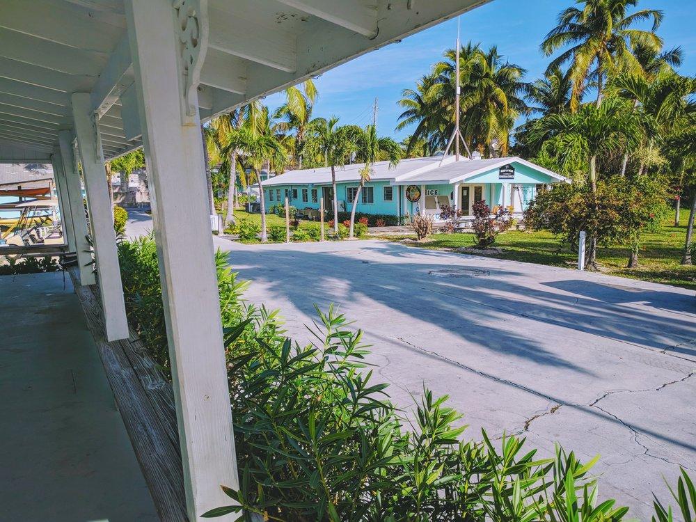 Main marina office. Golf cart rental and souvenir store.