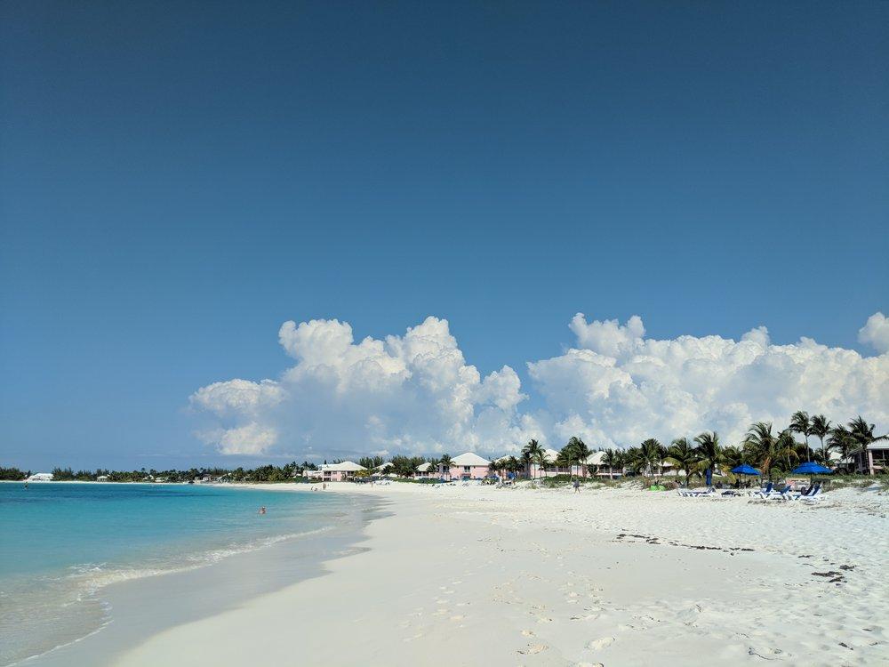 Treasure Cay's stunning beach.