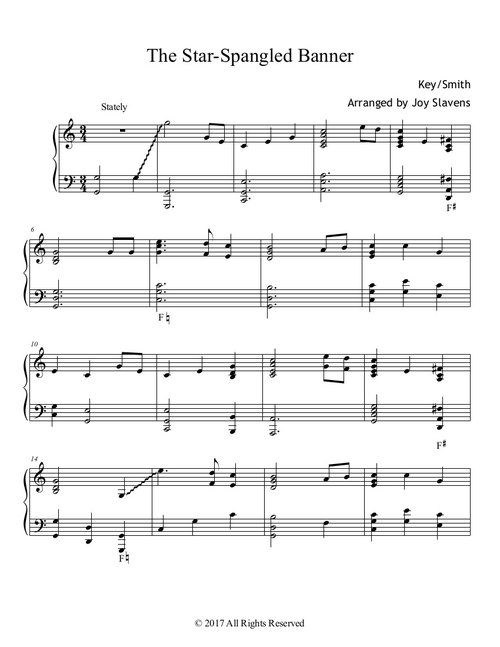 Star Spangled Banner PDF — Expressions of Joy