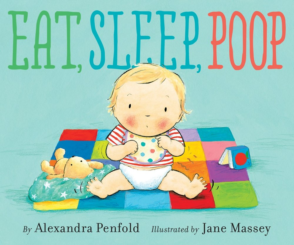 alexandra penfold, author, book, eat, sleep, poop
