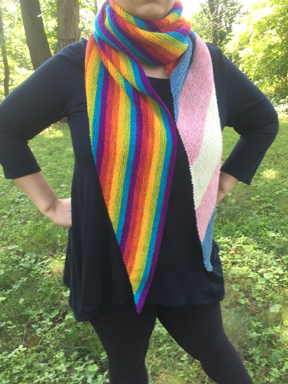 Download the free pattern for the  LGBTQ+Equality for Shawl .