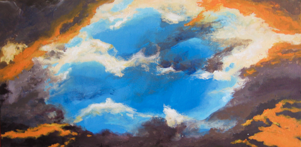 Hope.......there is always a blue sky hiding behind those clouds.     10 x 20            $160.