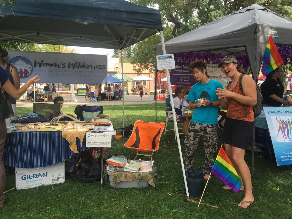 At Boulder Pride 2015 with Women's Wilderness