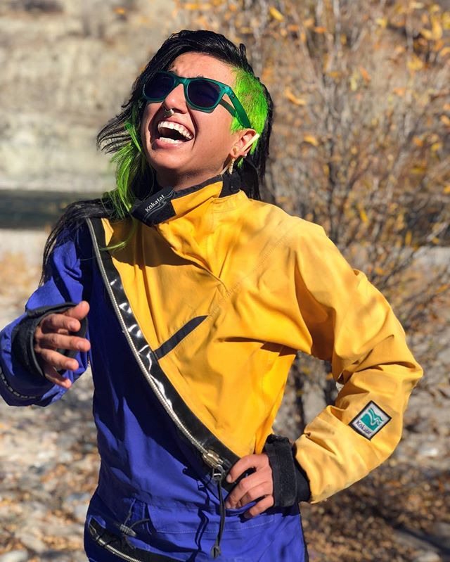 Our laughter in our queer, nonbinary, black and/or brown bodies shatter the binds of white supremacy and co-liberate our ancestors. . . 📍 Shoshone-Bannock, Eastern Shoshone + Cheyenne. . . 📷: @mynameisbam . . .  #queernature #queersinnature #queersinthewoods #qtpoc #tpoc #qpoc #diversifyoutdoors #publiclandisnativeland #decolonizenatureconnection #onstolenland #thisisnativeland #whoselandareweexploringon #indigiqueer #indigenousrising #indigenousqueer #nothingstraightaboutnature #queerecology #indigenousresistance #nativewomenswilderness #nativesoutdoors