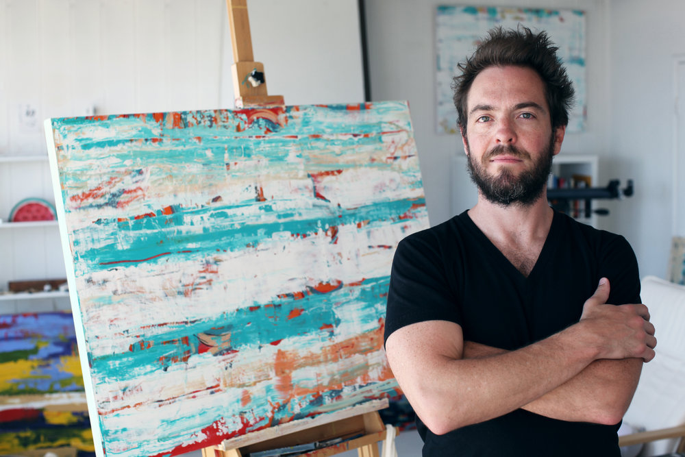 James Cooper in his Californian studio space.