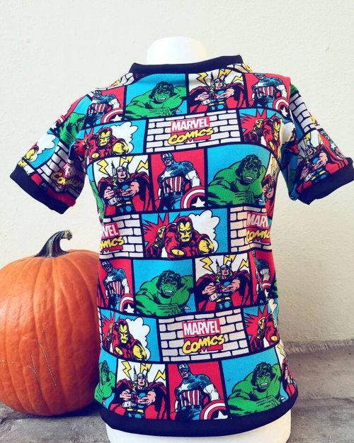 fc7bb3e6084 Baby boy girl toddler Avengers superhero shirt