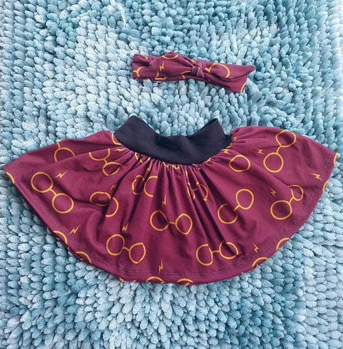 Harry Potter Glasses baby toddler girl twirl skirt heaband c0e3edebaa0