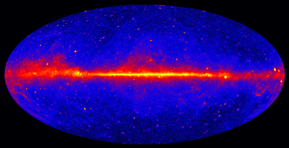 Signals of dark matter may be hiding in high-energy gamma-rays [Image: Fermi All-Sky Map]