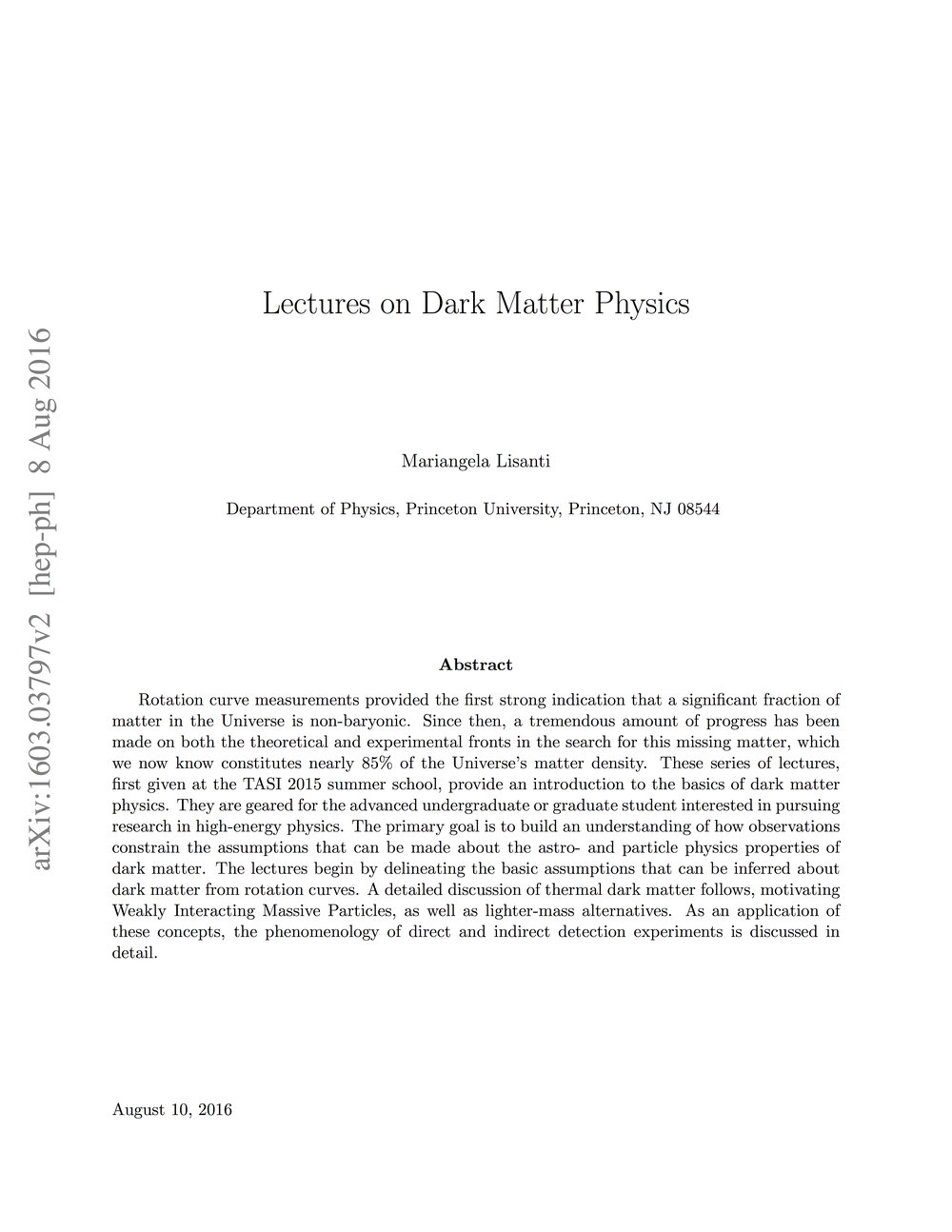 TASI Lectures on Dark Matter Physics