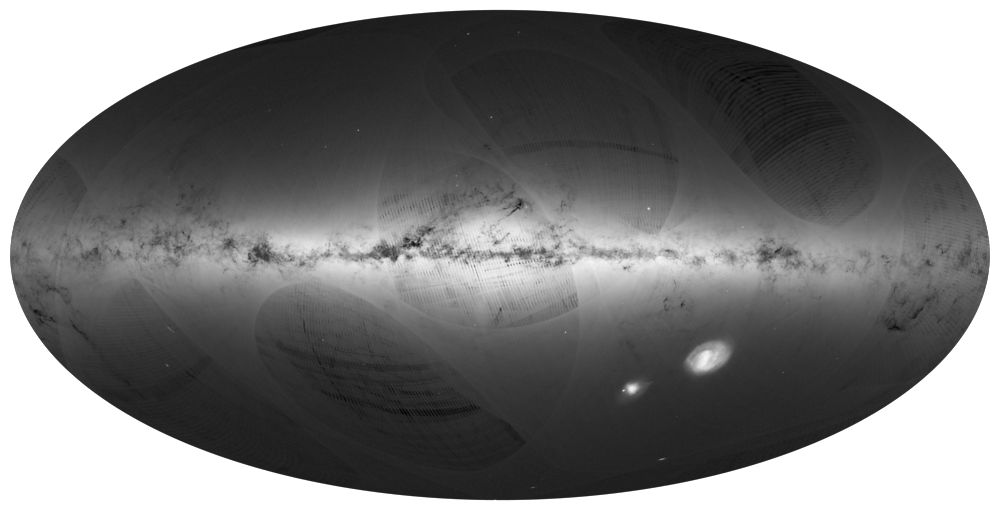 Hints of dark matter may be deciphered from the motions of stars in the Milky Way [  Image: Gaia Sky Map]