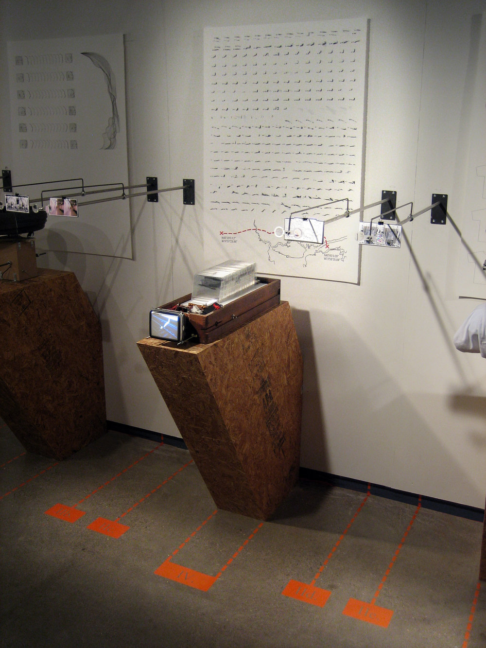 Installation view as part of  Parallel Projections,  installed at the University of Michigan Architecture Gallery, 2008.