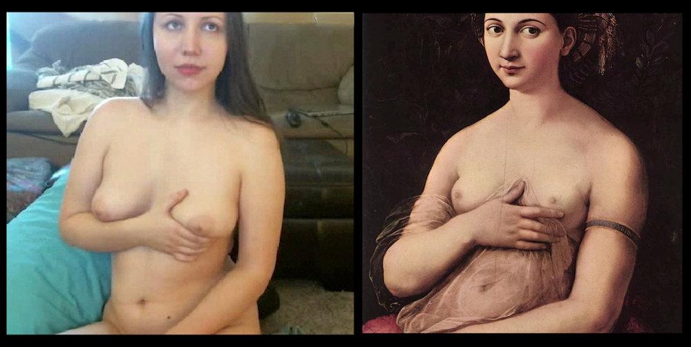 sexcutrix as  La Fornarina , Raphael (1518)