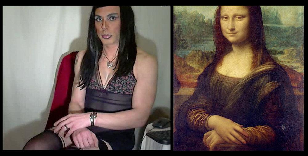 ricadoll as  Mona Lisa (la Gioconda) , Leonardo da Vinci (1503-6)