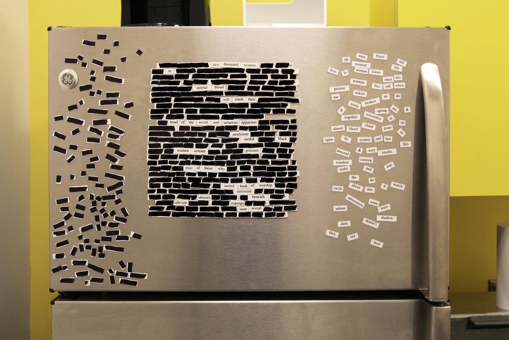 Step 3: Self-censorship on your fridge!