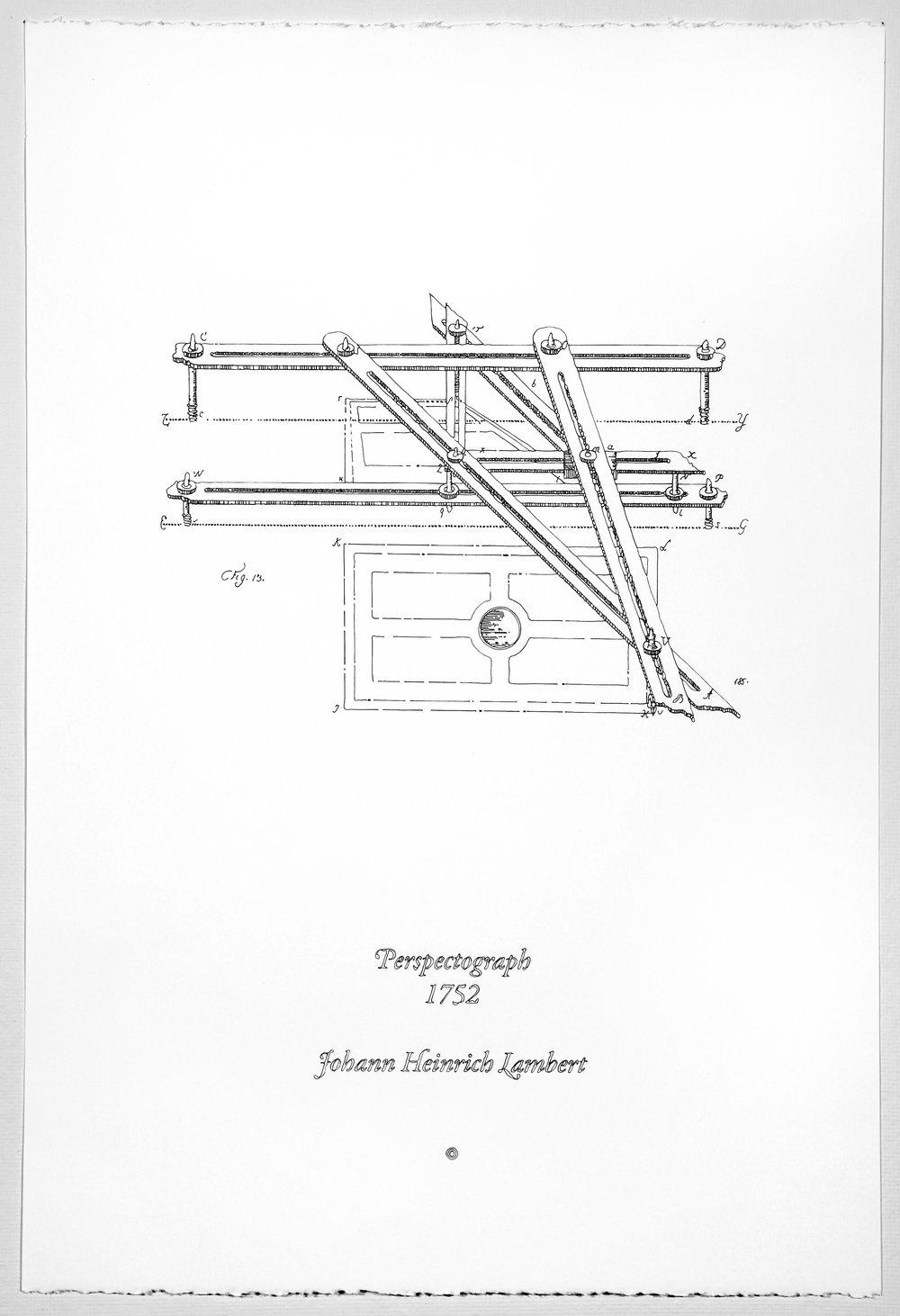 Perspectograph, 1752, Johann Heinrich Lambert