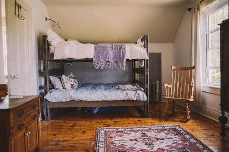 bunk rooms; two rooms separated by pocket doors (sleeps 8; 4 in each room)