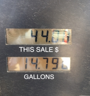 HOW MANY GALLONS DO A '36 HOLD? FOURTEEN, I THOUGHT............
