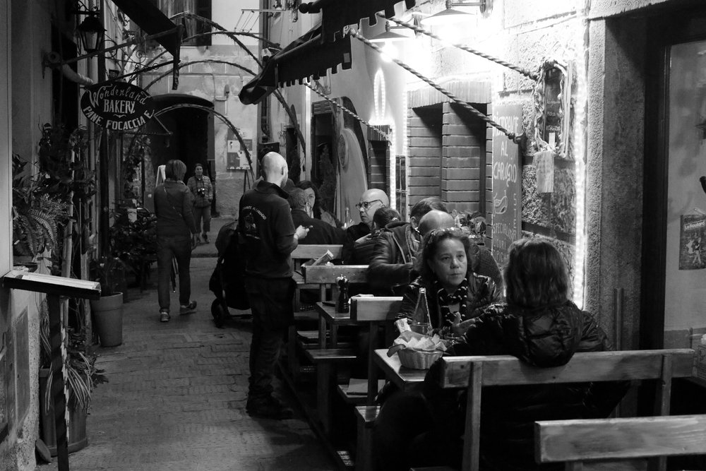 Monterosso Cafe at Night