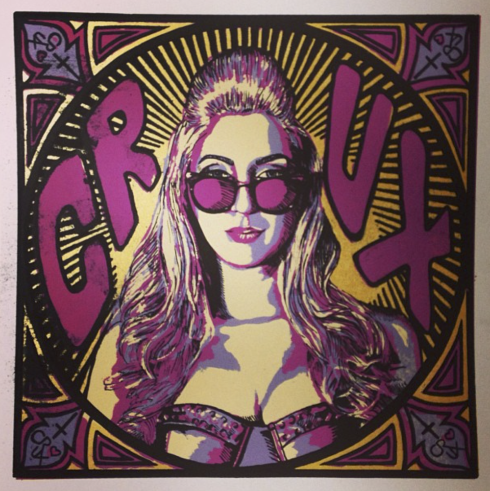 CRUX Album Cover, Screenprint, 2013