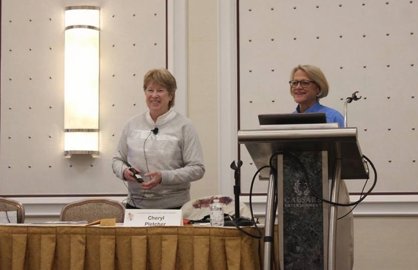 Marianne & Cheryl presenting at the 2018 GCLS.