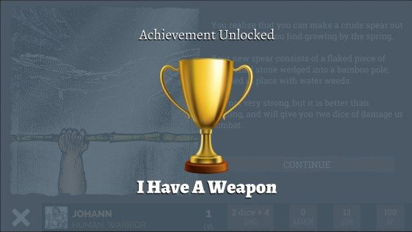 Here's one of the first achievements you might unlock in Naked Doom. Can you find the new ones next week?