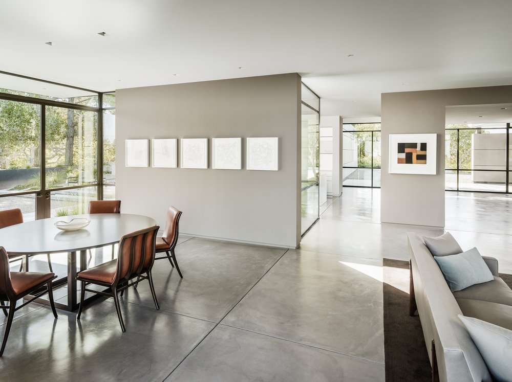 Artists: Sol Lewitt, Sean Scully, Architect: Jim Jennings,Photographer: Joe Fletcher,Location: Carmel, California